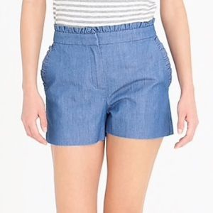 JCrew Ruffle Pocket Shorts